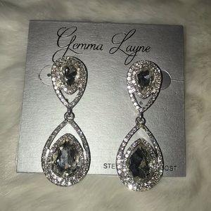 Gemma Layne Silver diamond earrings